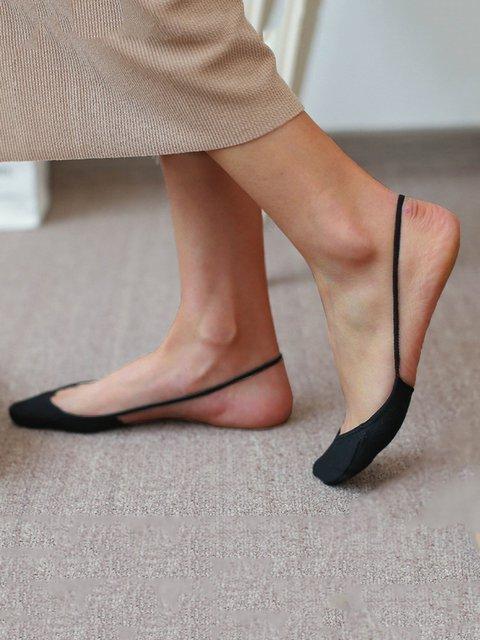 Women Casual Cotton-blend Lightweight Breathable Socks