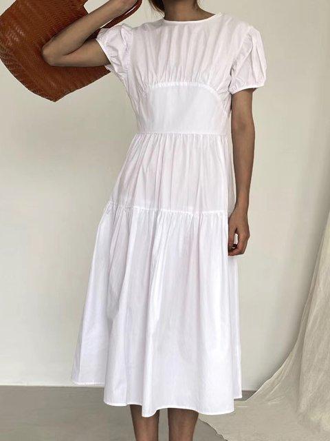 Casual Crew Neck Short Sleeve Dresses