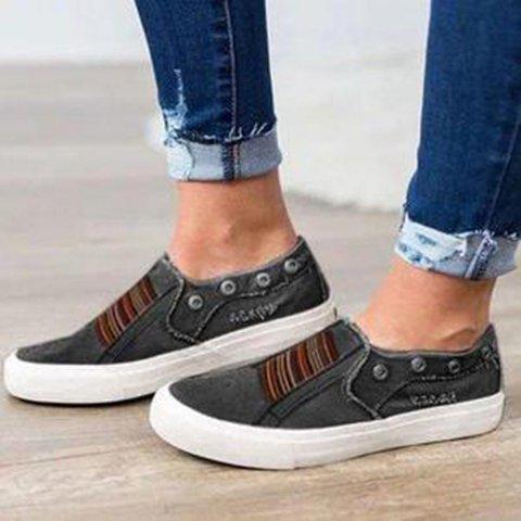 Flat Heel Rivet Daily Sneakers