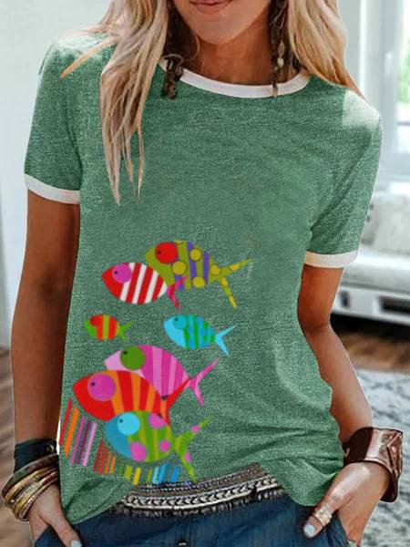 Green Casual Short Sleeve Shirts & Tops