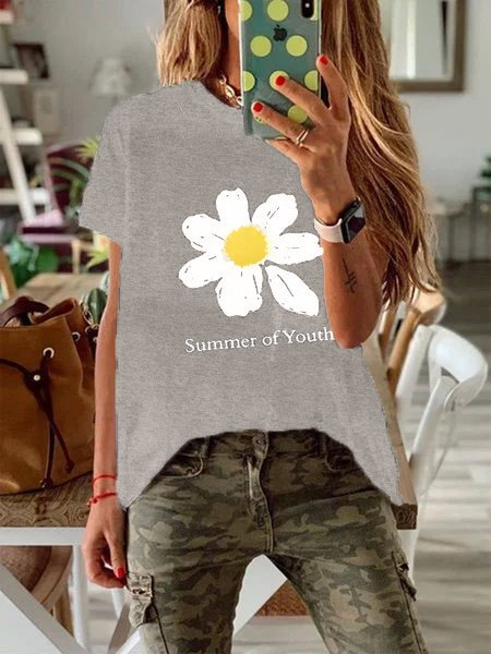 Short Sleeve Floral Shirts & Tops