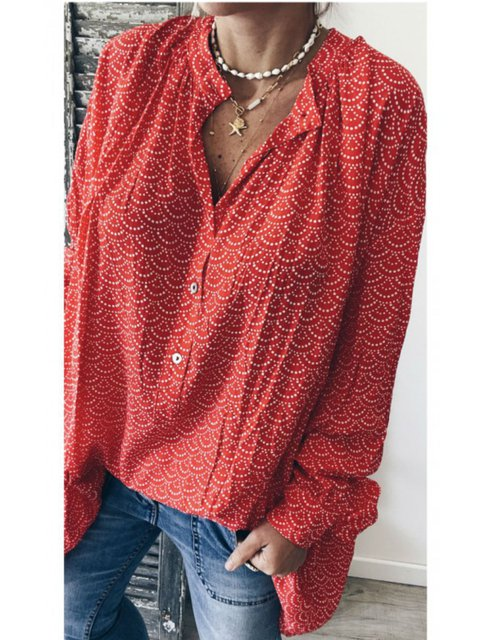 Women Plus Size Blouses Long Sleeve Shirts