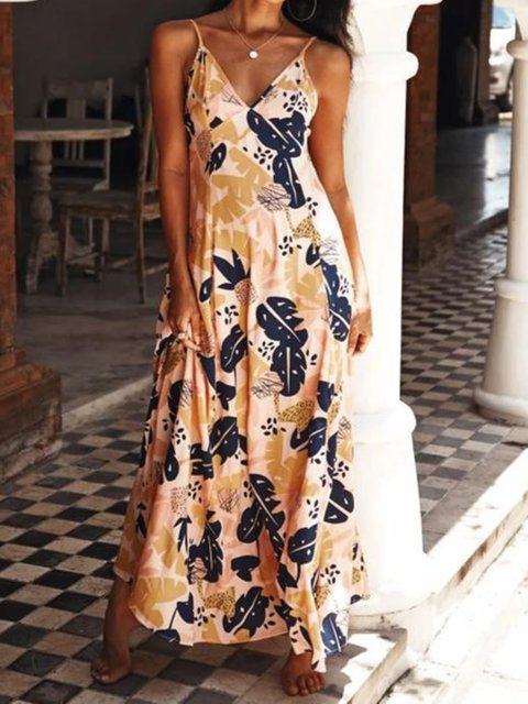 Summer Spaghetti Maxi Dress Plus Size Dresses