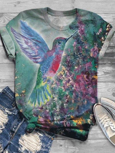 Plus Size Casual Animal Vintage Shirts & Tops