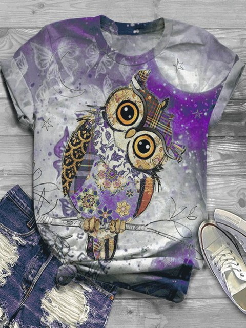 Plus Size Casual Cotton-Blend Floral Shirts & Tops