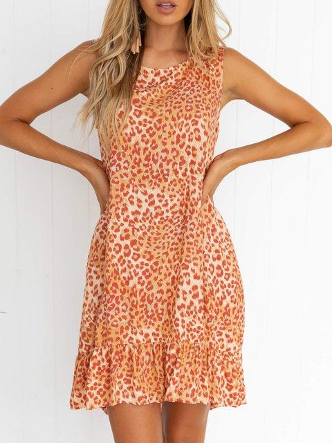 Summer Sleeveless Mini Dress Plus Size Dresses