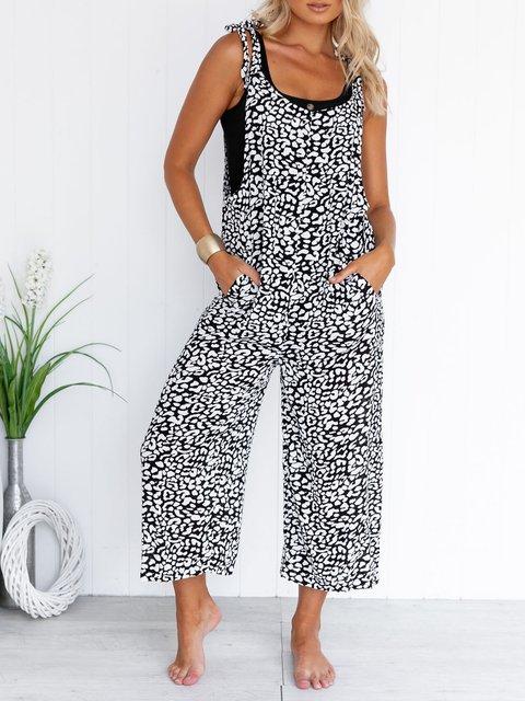Pockets Sleeveless Jumpsuit Plus Size Boho Playsuits