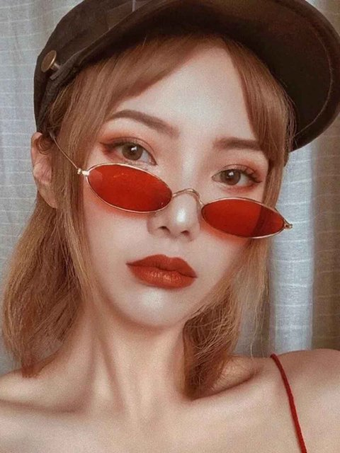 Red Casual Alloy Sunglasses