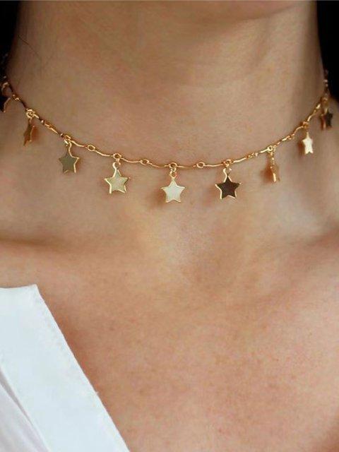 Golden Simple Alloy Necklaces