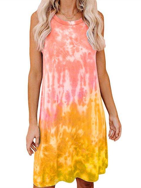 Simple Sleeveless Cotton-Blend Dresses