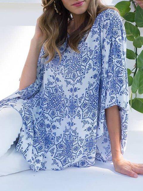 Floral Blouses Plus Size Women Tunic
