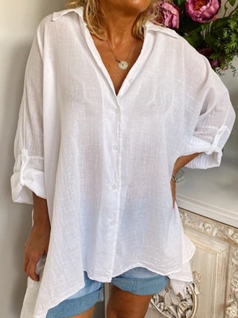 Casual Plus Size Tunic Shirts Tops