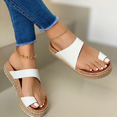 Summer Leather Daily Slippers