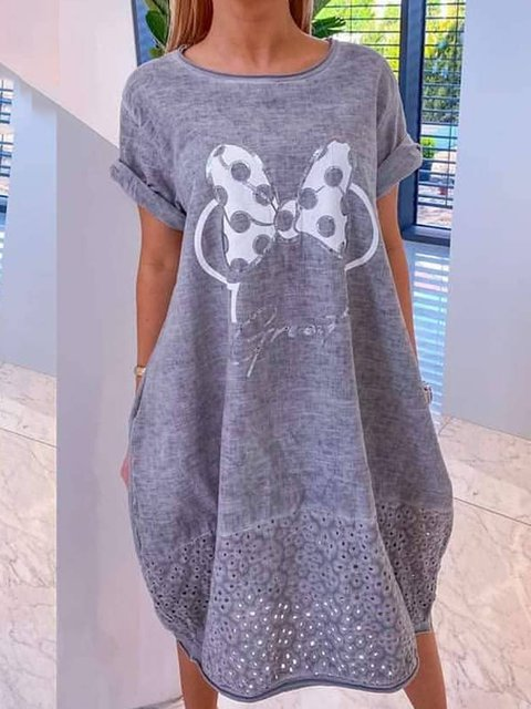Women Paneled Printed Cocoon Casual Dresses