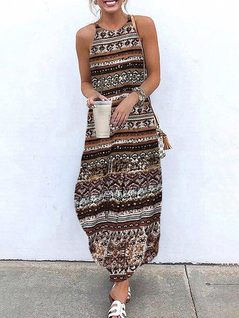 Sleeveless Cotton-Blend Dresses