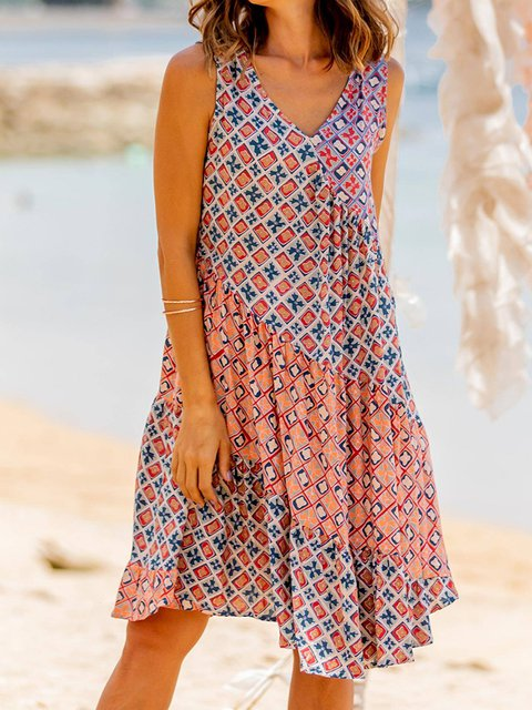 Sleeveless Summer Mini Dress Plus Size Dresses