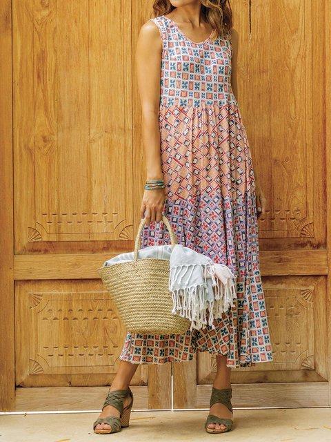 Summer Sleeveless Maxi Dress Boho Dresses
