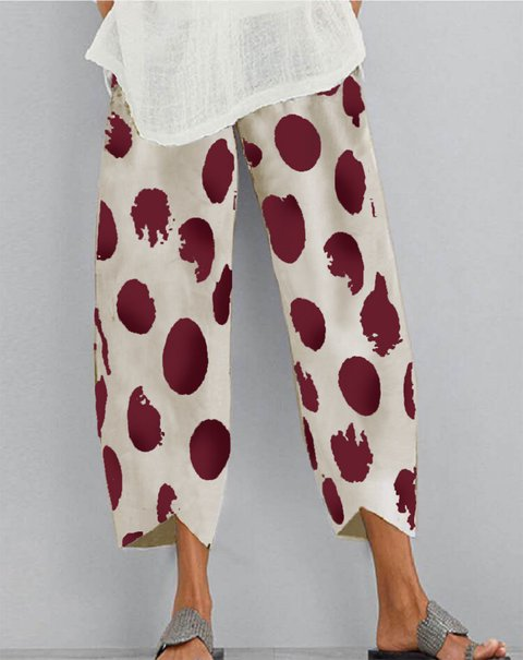 Printed Polka Dots Pants