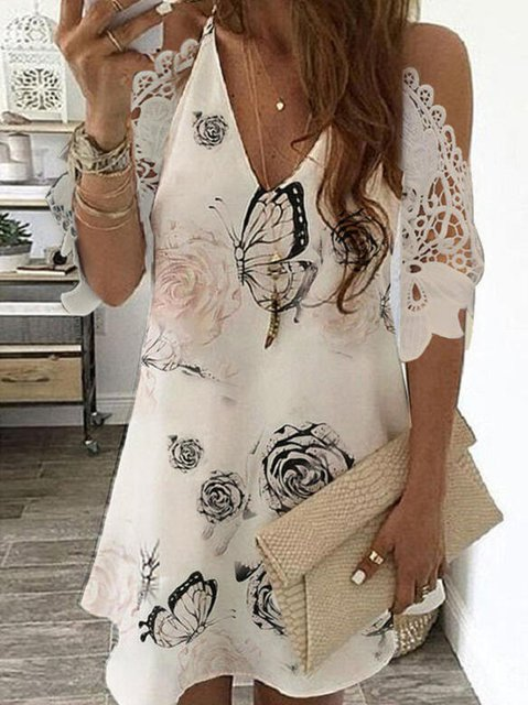 Printed Short Sleeve Dresses