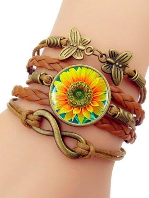 Vintage Sunflower Bracelet