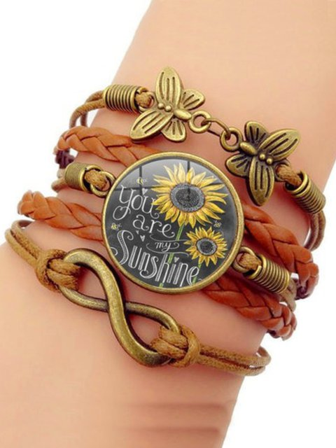 Fashion Casual As Picture Alloy Sweet Jewelry Vintage Bracelet