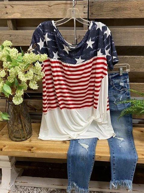 Casual Cotton O-Neck Shirts & Tops