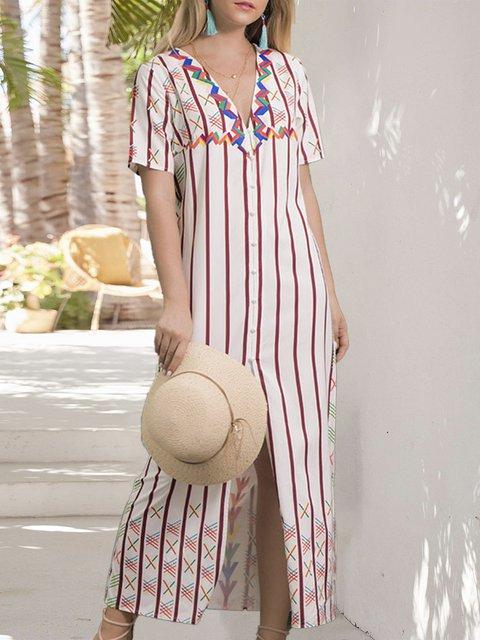 Shift Holiday Printed Maxi Dress