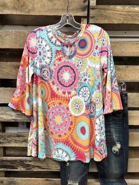 Color Short Sleeve Casual Shirts & Tops