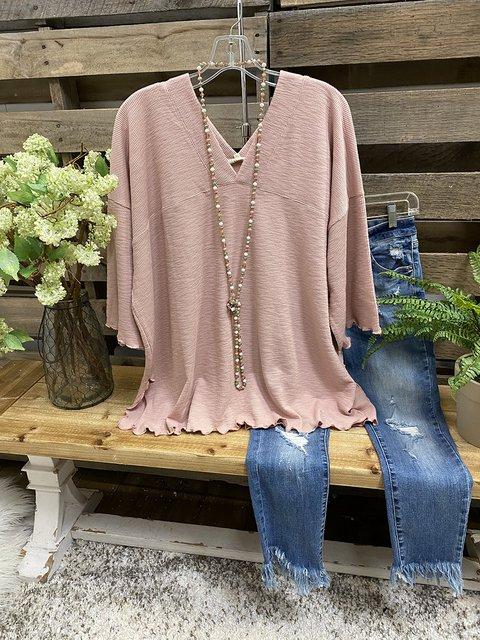 3/4 Sleeve Slit Shirts & Tops