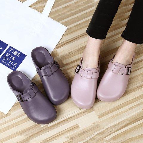Flat Heel Outdoor Jelly Slippers