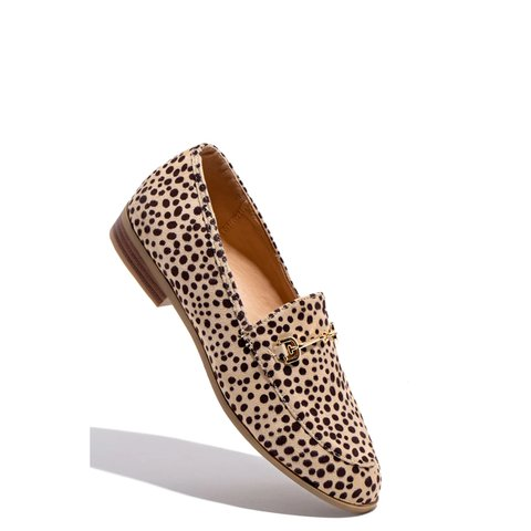 Leopard Flat Heel Daily All Season Faux Suede Flats