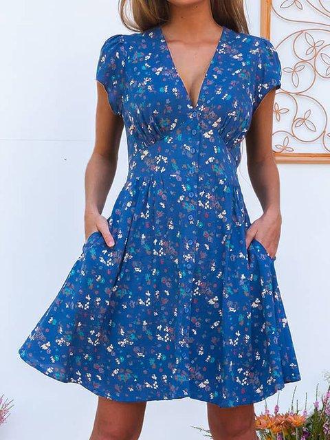 Floral Mini Dress Summer Plus Size Dresses