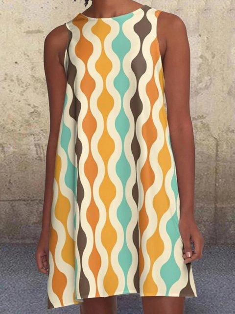 Yellow Sleeveless A-Line Dresses