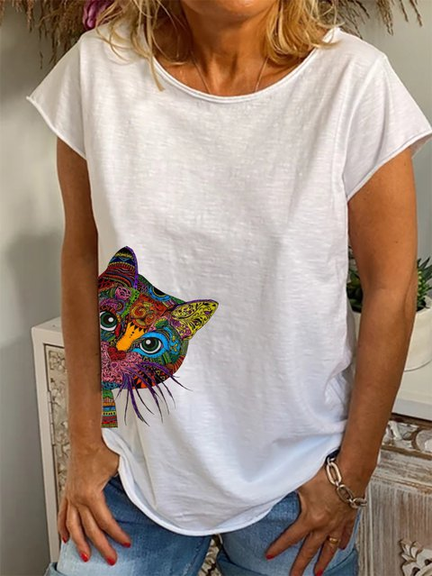 White Casual Cotton Shirts & Tops