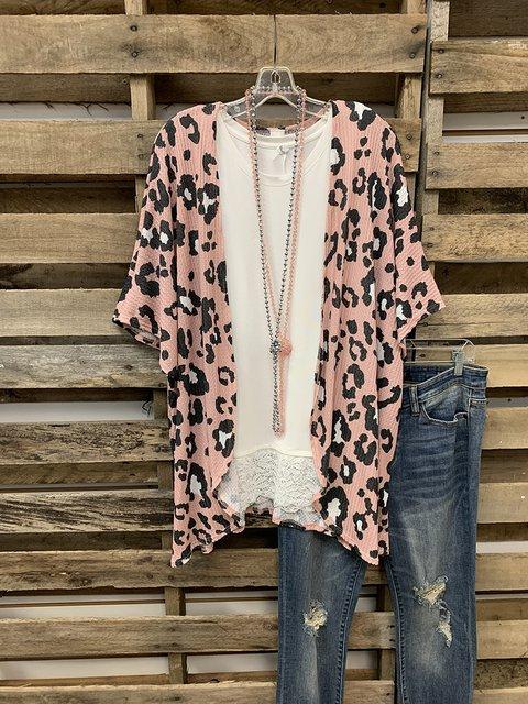 Leopard Print Beach Sunscreen Cardigan