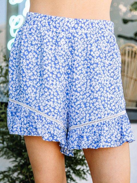 Summer Floral Shorts Plus Size Women Boho Pants