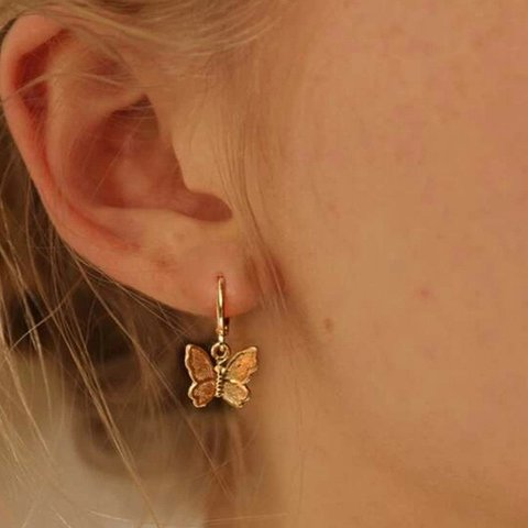 Sweet Butterfly Pendant Earrings