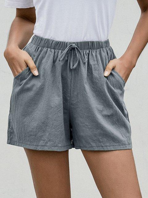 Casual Daily Drawstring Shorts