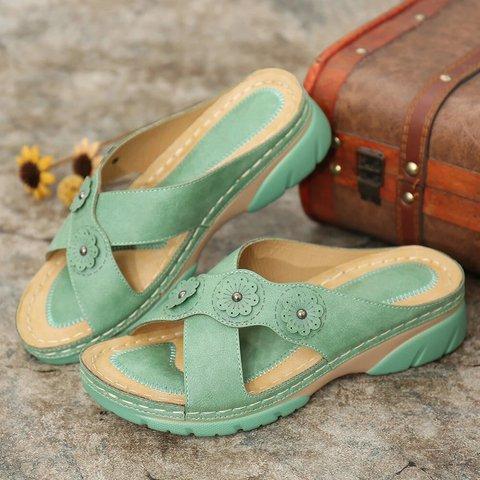 Date Summer Pu Slippers