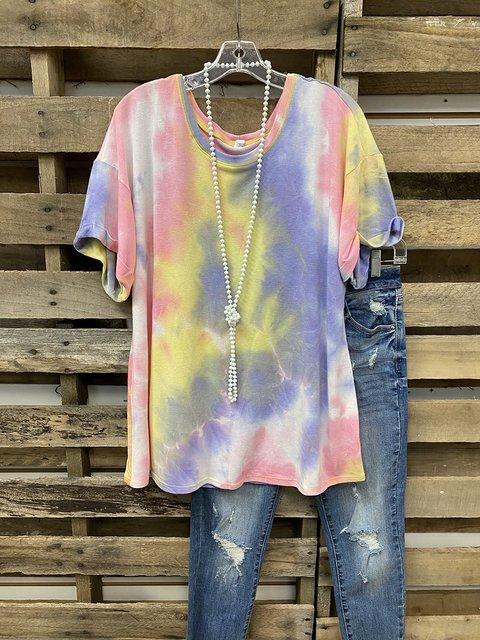 Multicolor Omebre Personality T-shirt