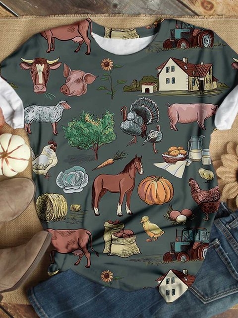 Gray Casual Cotton Short Sleeve Shirts & Tops