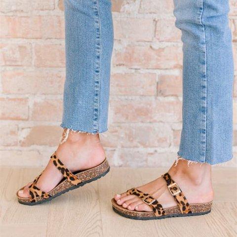 Summer Printed Pu Slippers