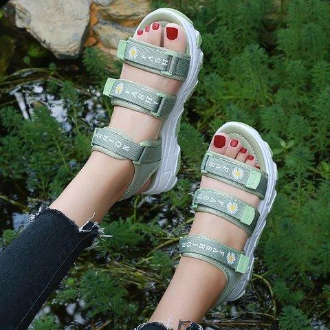 Printed Cloth Beach Sandals