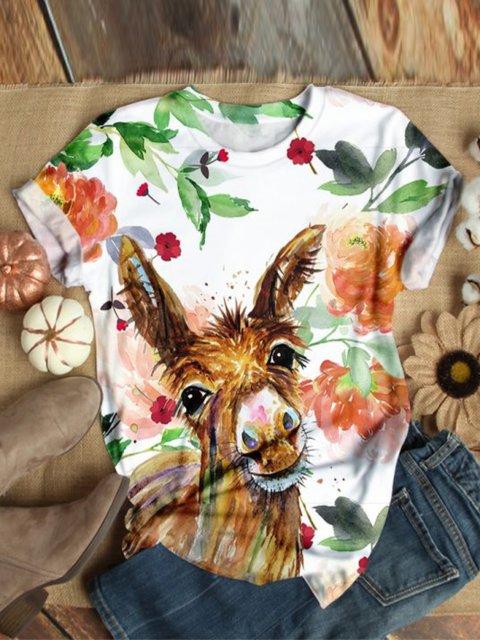 White Donkey Floral-Print Shirts & Tops