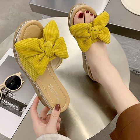 Home Wear Faux Suede Slippers