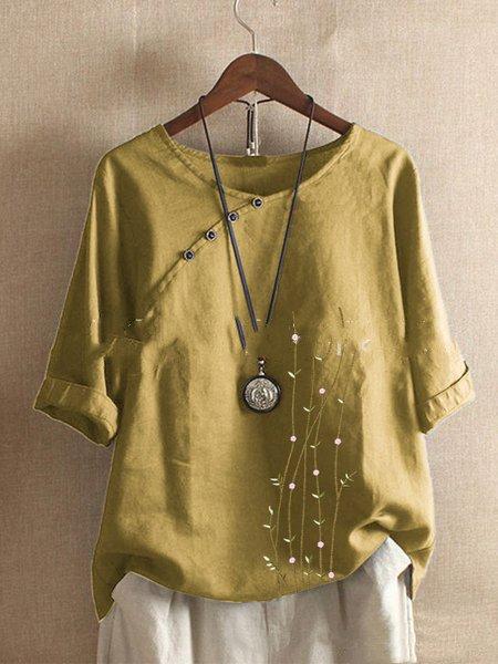 Casual 3/4 Sleeve Shirts & Tops