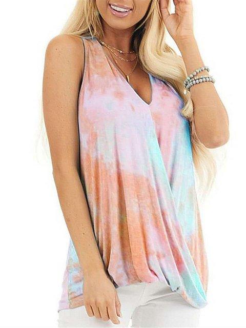 Shift Sleeveless Cotton Shirts & Tops