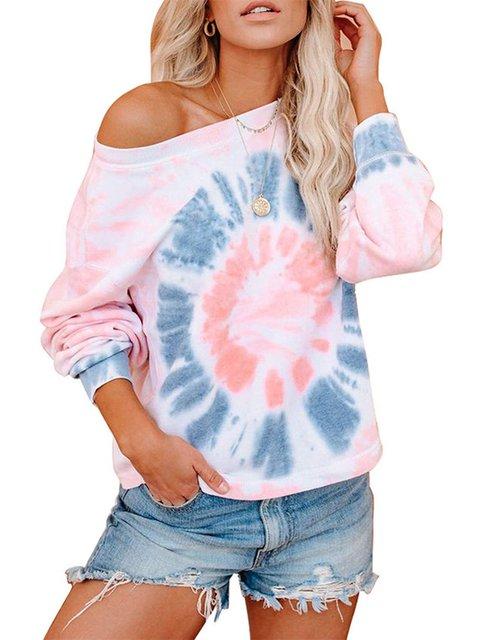 Pink Long Sleeve Floral-Print Shirts & Tops