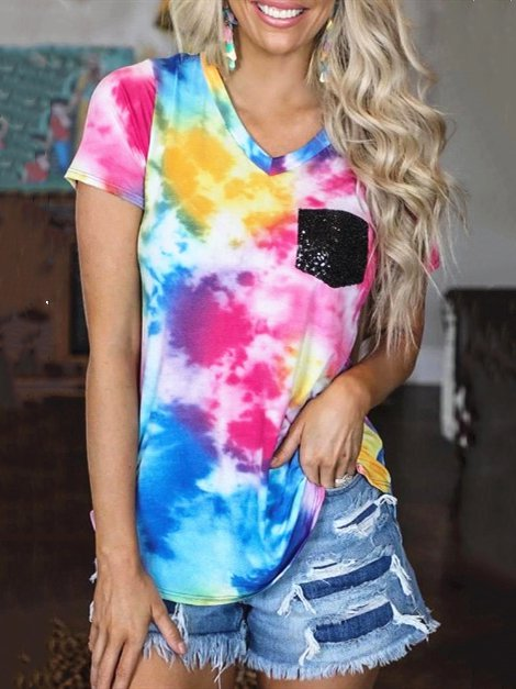 Tie-Dye Short Sleeve T-Shirts & Tops