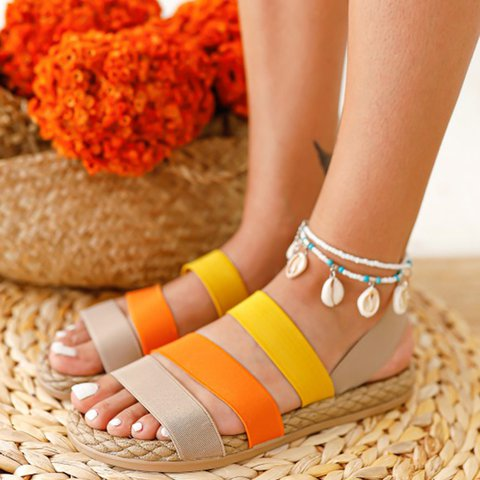 Flat Heel Summer Slippers
